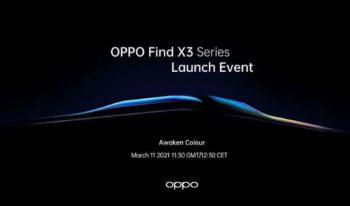 Les Oppo Find X3 seront officiellement présentés le 11 mars