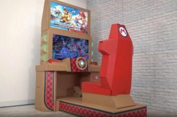 Insolite : une borne d'arcade Mario Kart… tout en carton !