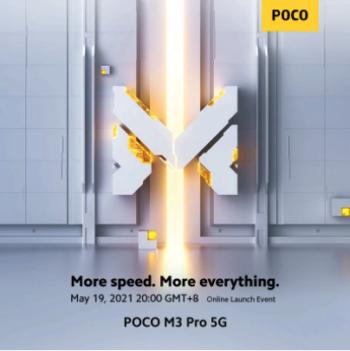Poco M3 pro 5G et Global Version, annonce le 19 et présentation le 21 Mai