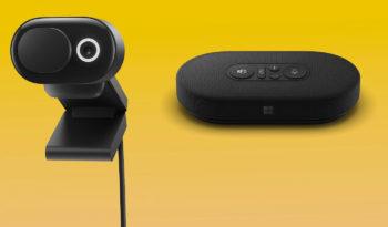 Microsoft dévoile plusieurs produits : casques, webcam et haut-parleur