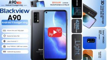 Smartphone BlackView A90 de 6,39″ avec cpu octa-core ,4+64,NFC et batterie 4280mAh à moins de 100€