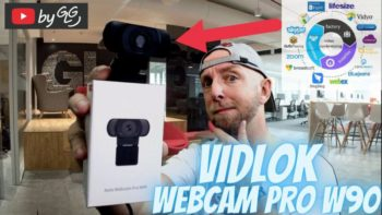 Test Vidlok Webcam Pro W90 avec AF autofocus , Multi-Functional Bracket, Full HD 1080P , Plug and Play ,Rotation et Noise-Cancelling Microphone