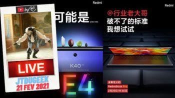 JTDUGEEK LIVE: Redmi K40 Amoled E4, RedmiBook pro, Wandavision et Monster Hunter