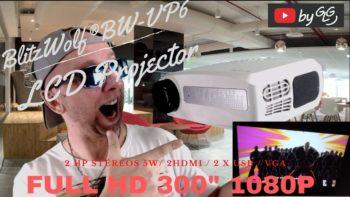 Projecteur FHD pas cher Stereo Blitzwolf BW VP6 avec LCD et LED , le meilleur rapport prix !