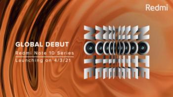 Redmi note 10 annoncé pour le 4 Mars 2021